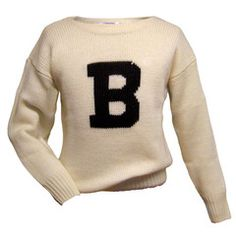 """The Bowdoin Store — Knit Pullover """"B"""" Sweater"""