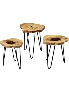 "Dimond Home 162-002 Teak Nesting Tables, 19"" x 19"" x 24"" ❤ Elk Group International"