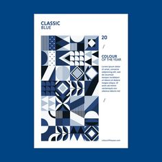 Geometric poster color of the year 2020 Geometric Graphic Design, Geometric Poster, Graphic Design Templates, Graphic Patterns, Graphic Design Inspiration, Prospectus, Certificate Design, Abstract Logo, Color Of The Year