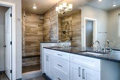 Master Bathroom // Design by 303 Development Double Vanity, Custom Homes, Master Bathroom, Denver, King, Design, Master Bath, Double Sink Vanity, Master Bathrooms