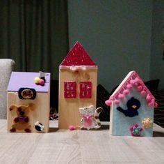 Wooden houses decor room, children room, kids bedroom by PINKandBLUE4kids on Etsy