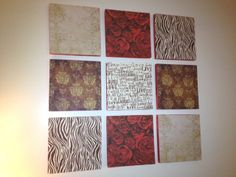 """DIY Wall Art - Scrapbook Paper and Styrofoam Board. Check out this """"how-to"""" tutorial on creating your own one-of-a-kind decorations to brighten up your walls.  ThursdayNightThreads.blogspot.com"""