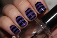 Purple and black stripes.