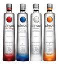 CÎROC     one of the world's only vodkas created entirely from grapes. Ultra Premium, Red Berry, Coconut, Peach. Clean finish and absence of alcohol burn crates a most uncommon vodka cocktail experience
