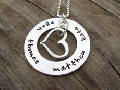 Hand Stamped Mommy Necklace - Personalized Name Necklace
