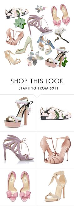 """SPRING SHOES!"" by egchee ❤ liked on Polyvore featuring Sophia Webster, Dolce&Gabbana, Chelsea Paris, Alexander McQueen, Valentino, Alexandre Birman, Spring, Heels, sandals and sneakers"