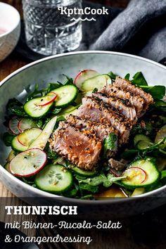 Fun Easy Recipes, Fish Recipes, Whole Food Recipes, Easy Meals, Pear Salad, Cheese Salad, Recipe Please, 30 Minute Meals, Healthy Salad Recipes