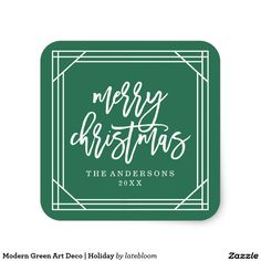 Modern Green Art Deco | Holiday Christmas gift wrapping ideas