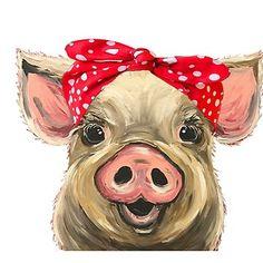 bilder pferde Pig with Bandana art Cute pig art Canvas Print by leekellerart animals animal paintings art Bandana Bilder Canvas Cute leekellerart pferde pig print Farm Paintings, Animal Paintings, Animal Drawings, Art Drawings, Cow Paintings On Canvas, Painting Studio, Painting & Drawing, Pig Drawing, Sky Painting