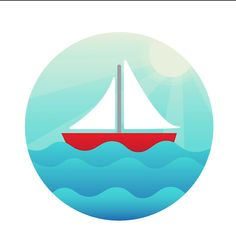 Sailboat Icon Design - Healthy recipes - Watch how we created this awesome sailboat icon! With simple tools and gradients, you are able to c - Icon Design, Graphisches Design, Graphic Design Inspiration, Vector Design, Logo Design Tutorial, Graphic Design Lessons, Graphic Design Tutorials, Graphic Designers, Flat Design Illustration