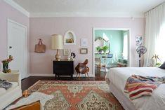 Benjamin Moore: Morristown Cream 1241  via Kelly's Cozy Chic Studio House Tour   Apartment Therapy