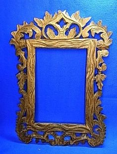 Beauty German Folk Art Wood Carved Picture Frame #J