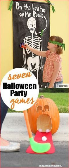 7 Halloween Party Games.  Halloween games for kids.  Halloween classroom party games and activities.  Fun fall games for the whole family.
