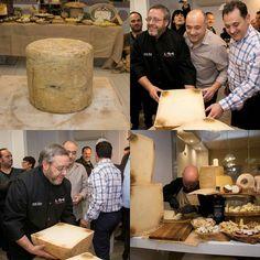 Ayer en @lamajadaquesos se abrió el queso más grande de España elaborado por Rubén Valbuena de @cantagrullas