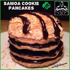 samoa cookie pancakes - THE FIT BALD MAN
