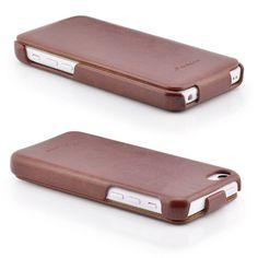 Business Flip Case für Apple iPhone 5C Braun
