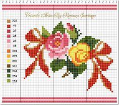 Mini Cross Stitch, Cross Stitch Rose, Stitch 2, Cross Stitch Flowers, Cross Stitch Charts, Pixel Crochet, Hippie Crochet, Vintage Cross Stitches, Cross Stitching