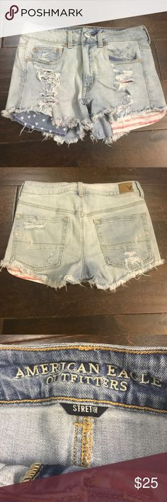 American Eagle High Rise Festival Short Love these shorts! Only selling because they don't fit anymore. High Rise Festival Short. Size 6 American Eagle Outfitters Shorts