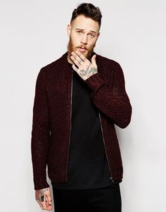 ASOS Knitted Bomber Jacket