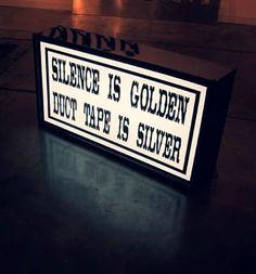 silence . . .