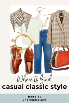Where to shop for casual classic clothing and accessories. Classic, relaxed styles for women. Women's blazers, lug-soled loafers for women. Fall Fashion Outfits, Fall Fashion Trends, Winter Outfits, Winter Fashion, Womens Fashion, Fashion Blogs, Classic Outfits, Stylish Outfits, Classic Style