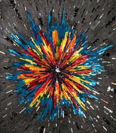 Margo Anton, The Big Bang, 2011, glass, dichroic glass, marble, quartz, silver wire, mosaic gold, smalti, bismuth, copper, carbon, iron, galena, stone, mirror, pyrite, carborundum