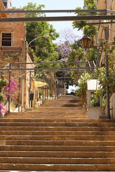 A stairway midst Gemmayzeh, an old neighborhood of Beirut