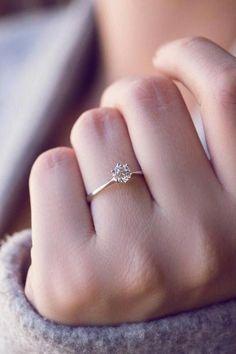 Wedding Rings Simple, Wedding Rings Vintage, Wedding Ring With Band, Women Wedding Rings, Simple Rings, Simple Weddings, Dream Engagement Rings, Vintage Engagement Rings, Engagement Ring Simple