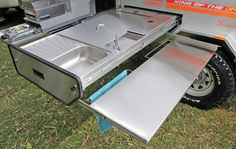 concealed pull out dining bench camper trailer