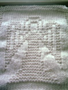 Angel dishcloth I knitted.