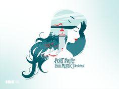 Port Fairy Folk Music Festival TShirt Illustration by Studio Ink