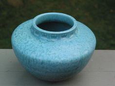 SALE Roseville Art Pottery Tourmaline Imperial squat by Junctique