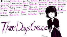 When I listen to Three Days Grace...