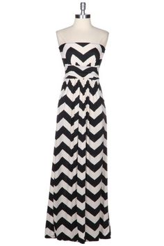 Black & White Chevron Maxi Dress – The Dandy Lion Boutique