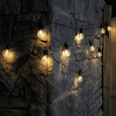 4.5m Clear Cap Battery Festoon Lights, 10 Warm White LEDs, Black Cable