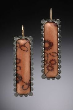 Tricia Harding Scalloped copper, torch-fired enamel, oxidized sterling silver, 14K gold