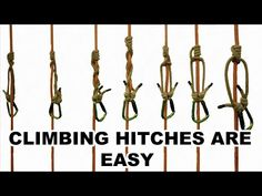 How to learn any climbing hitch in under a minute - YouTube Rock Climbing Equipment, Learning, Youtube, Rock Climbing Gear, Studying, Teaching, Youtubers, Youtube Movies, Onderwijs