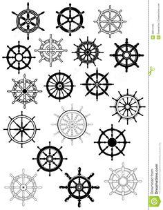 Ship steering wheels in retro style royalty-free stock vector art - - Melhores Tatuagens Helm Tattoo, 4 Tattoo, Compass Tattoo, Punk Tattoo, Finger Tattoos, Body Art Tattoos, Mini Tattoos, Tattoos For Guys, Ship Wheel Tattoo