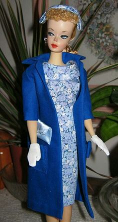 """#1 Barbie dressed in a OOAK fashion based on """"Easter Parade"""" from the collection of Edna Gabriel"""