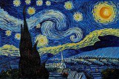 "Alim's Art: Van Gogh's most famous work ""The Starry Night"" 1989 ----"