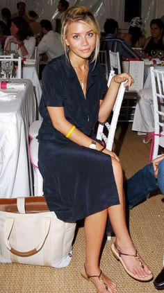 Ashley Olsen at the Coach luncheon to benefit Peace Games at the home of Quincy Jones, 2004