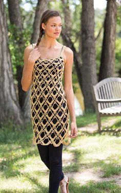 This crochet dress overlay is a beautiful crochet layer. Dominique Dress Overlay - Media - Crochet Me