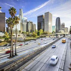 Los Angeles vor der Rush Hour  #losangeles #la #rushhour #frwy #kalifornien #usa #blauerhimmel #insiderreisen #fernweh…
