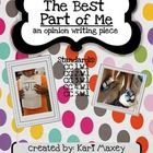 This is an opinion writing piece that is based off the book The Best Part of Me by Wendy Ewald.The students will explore the book, choose a Writing Lesson Plans, Writing Lessons, Writing Resources, Teaching Writing, Writing Activities, Writing Prompts, Writing Ideas, Teaching Ideas, 5th Grade Ela