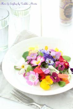 edible flower 簡単!おしゃれな盛り付けのコツ