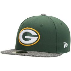 Green Bay Packers New Era Premium 59FIFTY Fitted Hat - Green