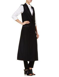 Black Wool Tuxedo Sleeveless Coat   Racil   Avenue32