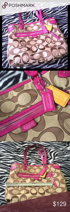 """Coach Tote Roughly 12"""" tall, 15"""" wide. Coach Bags Totes"""