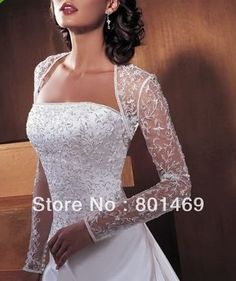 dress-framing bridal shrug
