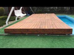 Pool & Swim Spa Abdeckung - fahrbar & begehbar - Optirelax OPTI  MOVE I - YouTube